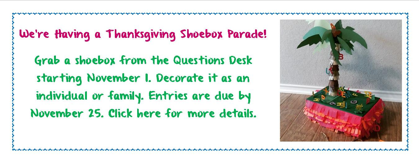 Thanksgiving Shoebox Parade