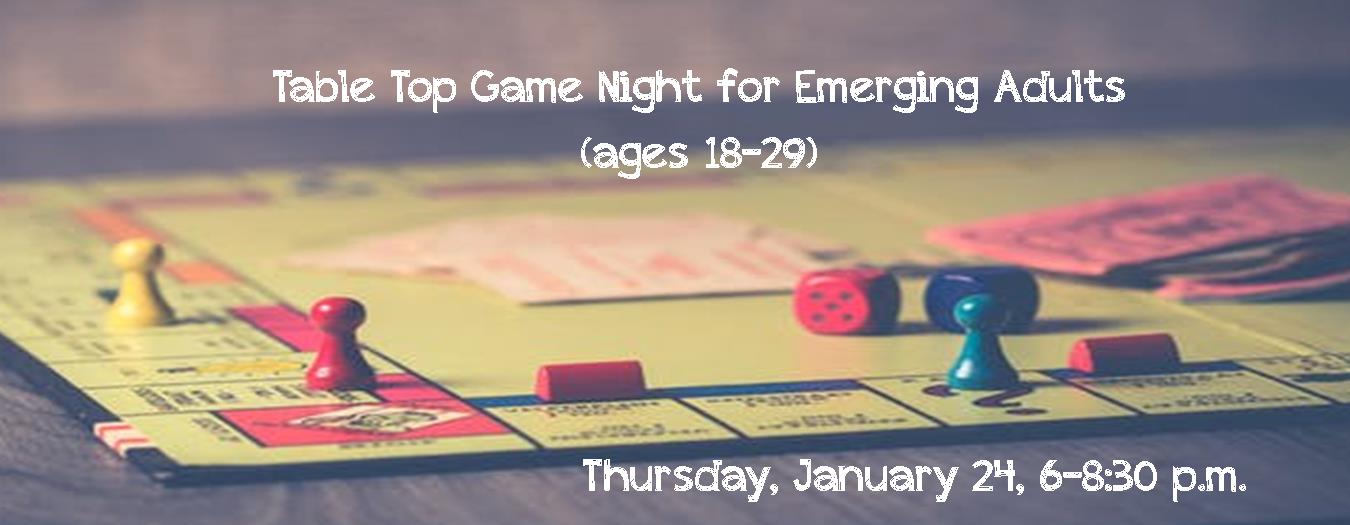 emerging adults game night