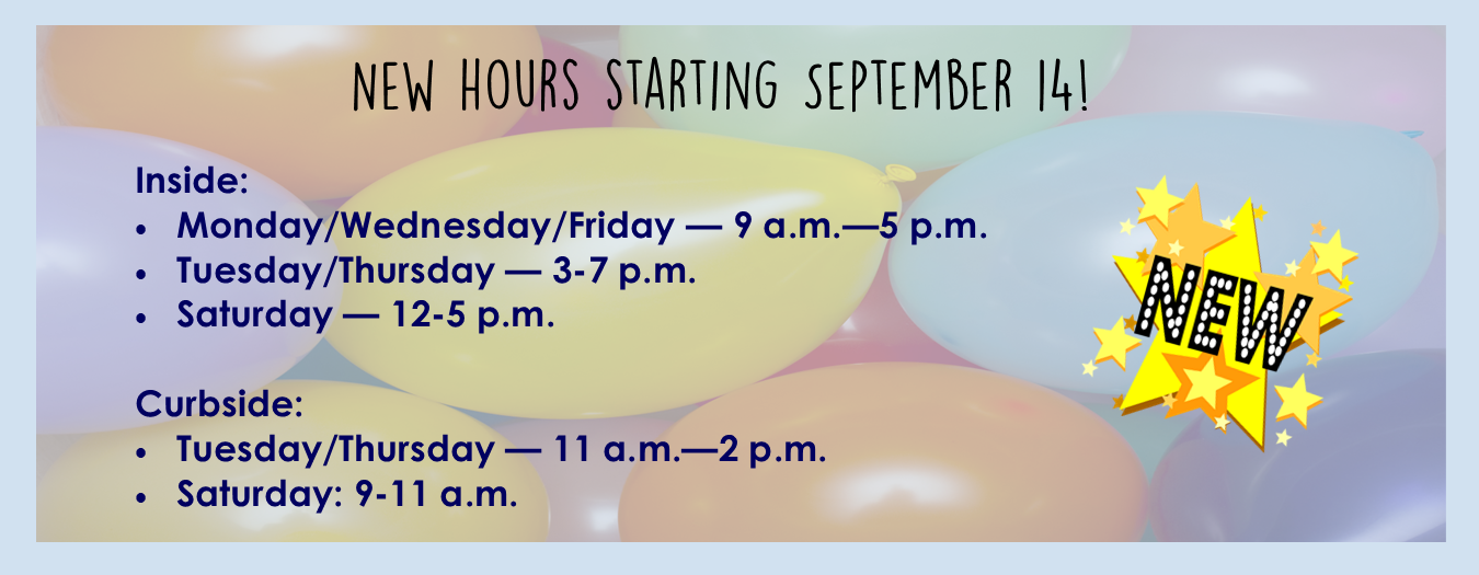 New hours 9-14