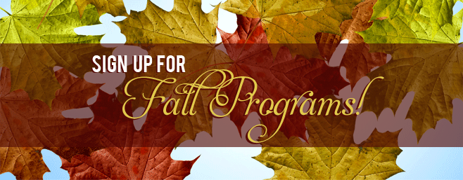 Fall Program Signup