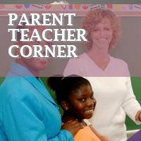 Parent, teacher and child